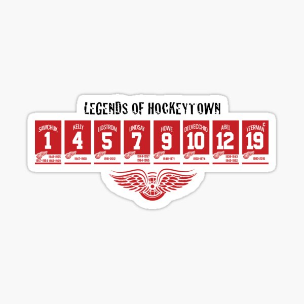 Hockeytown Legends Sticker