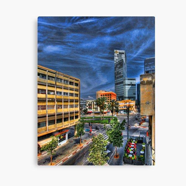 Tel Aviv, above the Loveat Canvas Print