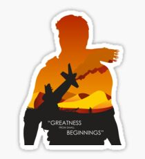 Greatness from small beginnings Sticker
