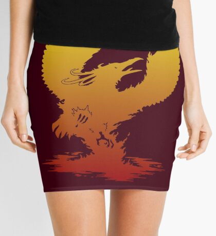 Phoenix Silhouette Mini Skirt