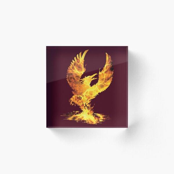 Phoenix Fire Silhouette Acrylic Block