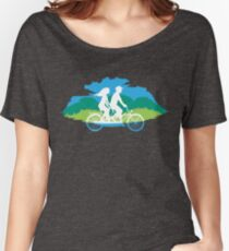Tandem Bike Trip Women's Relaxed Fit T-Shirt