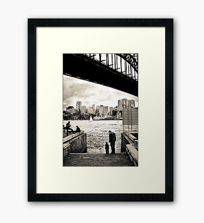 At The Harbours Edge Framed Print
