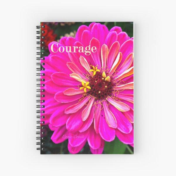 Courageous Zinnia Spiral Notebook