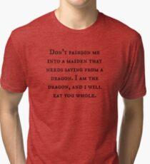 Dragon of Feminism 2 Tri-blend T-Shirt