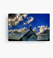 Church on the Prairies Canvas Print