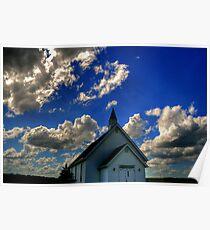 Church on the Prairies Poster
