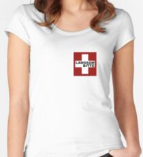 Swiss Flag (pocket-size) Langsam Bitte Women's Fitted Scoop T-Shirt