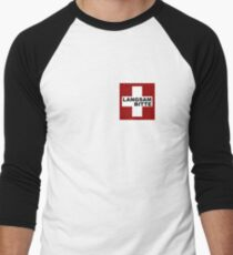 Swiss Flag (pocket-size) Langsam Bitte Men's Baseball ¾ T-Shirt