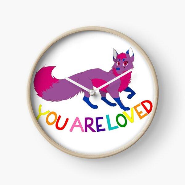 PRIDE Flag Foxes- Bisexual Pride! Clock