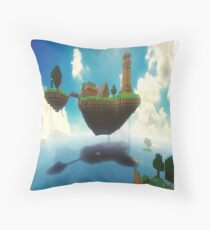 The World Of Minecraft Throw Pillow