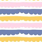 Colorful Stripes Cloud Line Pattern by anabellstar