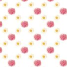 Pink and White Flowers (Floral Pattern) by denisethorn