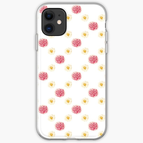 Pink and White Flowers (Floral Pattern) iPhone Soft Case