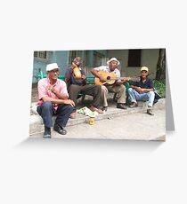Havana Buskers Greeting Card