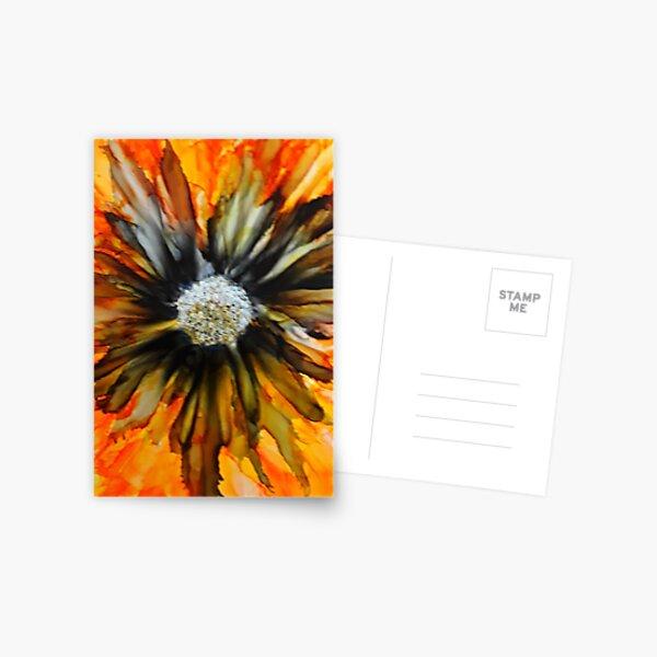 Orange & Black Blossom Postcard
