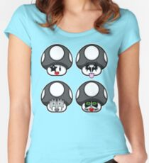 Kisshrooms  Women's Fitted Scoop T-Shirt