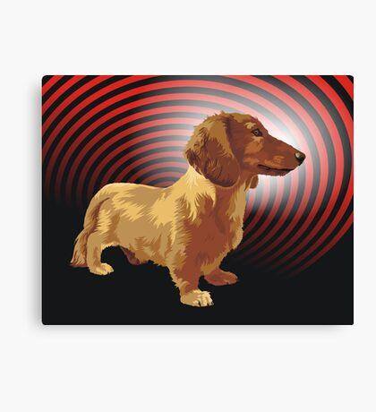George dachshund Canvas Print