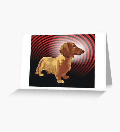 George dachshund Greeting Card