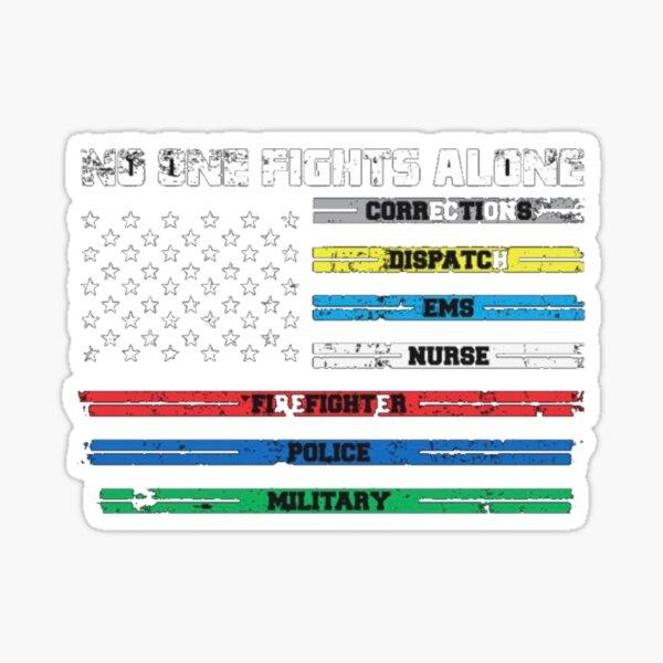 First responder flag graphic design  Sticker