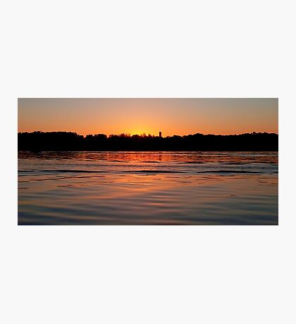 The end of a day at Canon Lake. Photographic Print