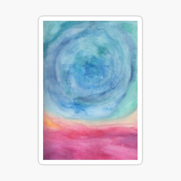 swirled landscape Sticker