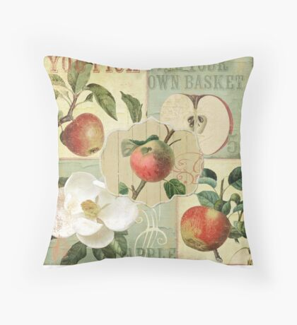 Apple Blossoms III Throw Pillow