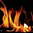 Winter fireplace by Amy Rawlings