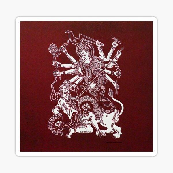 Red Durga Sticker