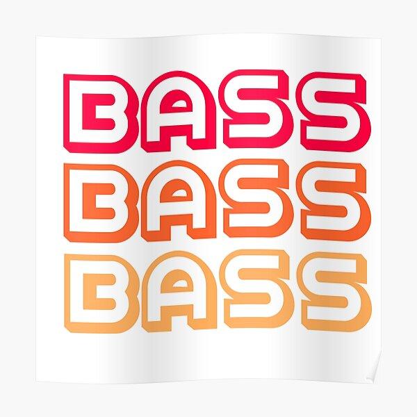 """Retro 70s """"Bass"""" T-Shirt Poster"""