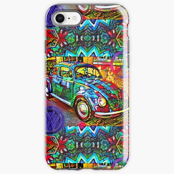 Psychedelic Peace And Love VW Bug For Hippies iPhone Tough Case