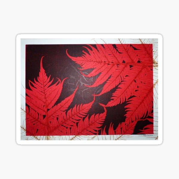 Red Tree Fern Sticker