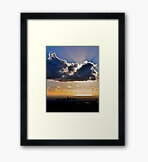 Aliens over Adelaide! Framed Print