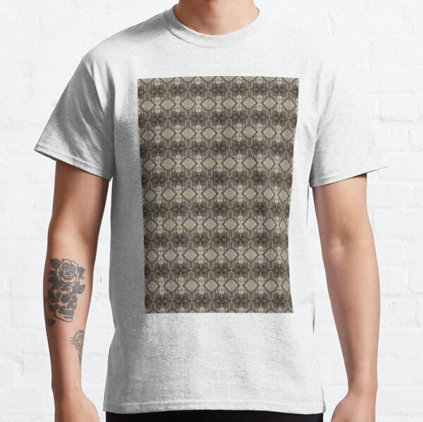 #Pattern, #design, #abstract, #illustration, decoration, textile, art, tile, element, repetition, vertical, seamless pattern, textured Classic T-Shirt