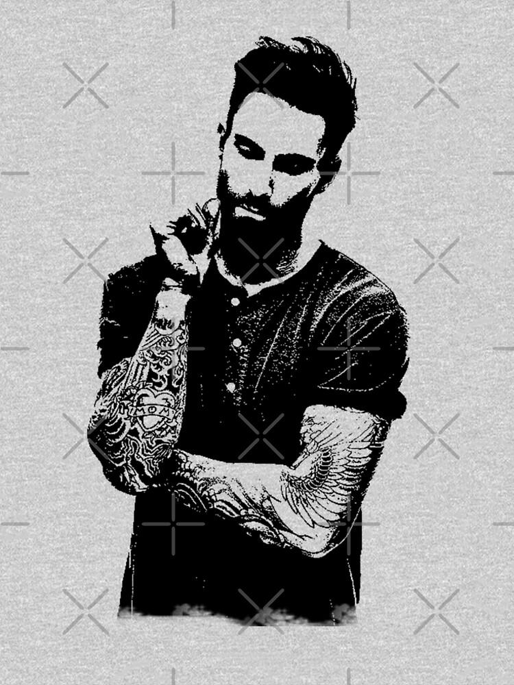 Adam Noah Levine portrait art digital illustration of Adam Noah by alkaline6x