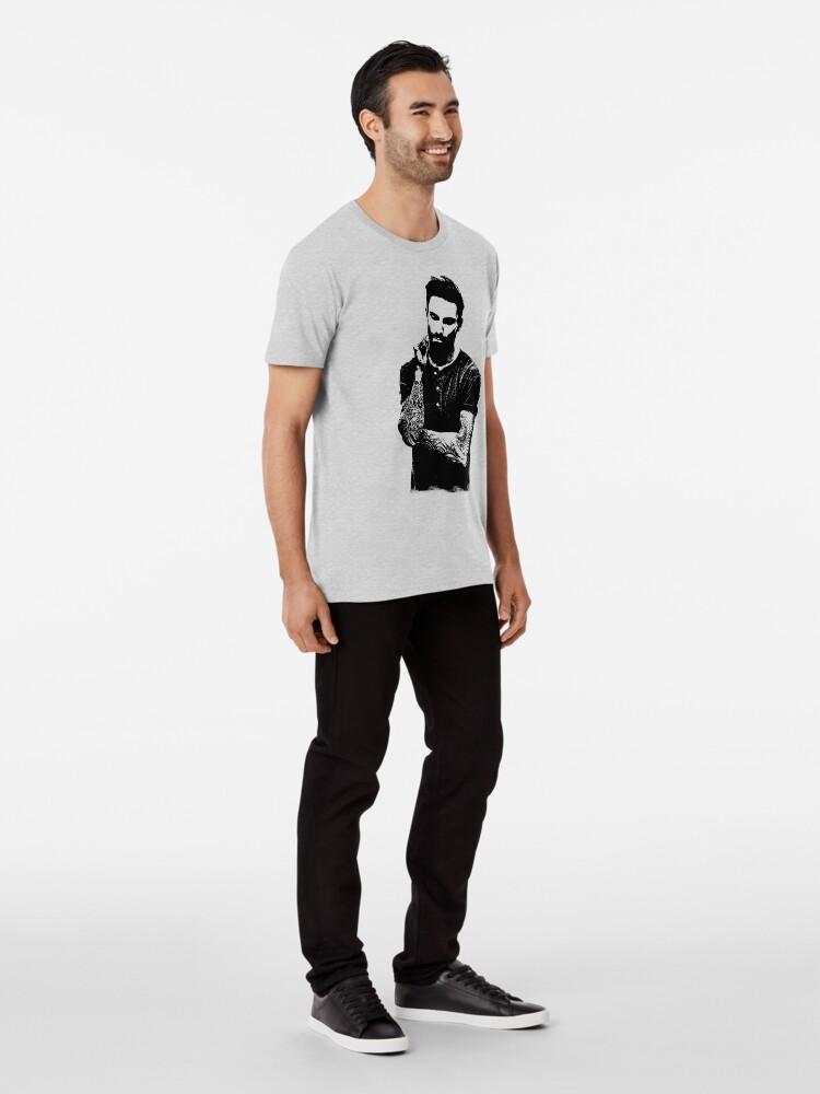 Alternate view of Adam Noah Levine portrait art digital illustration of Adam Noah Premium T-Shirt