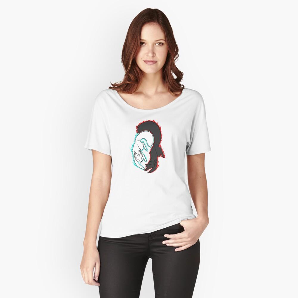 Zorro de llamas gemelas! Camiseta ancha