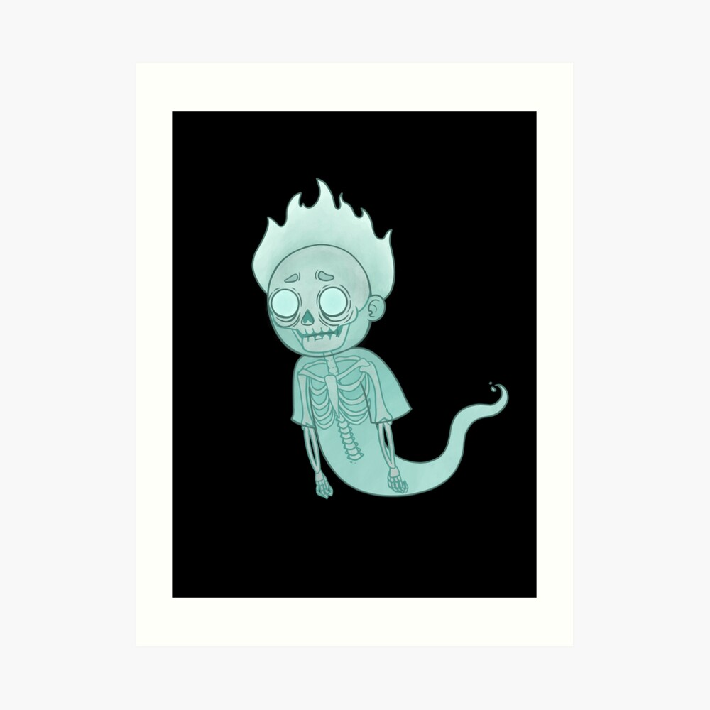 Ghost Morty Art Print