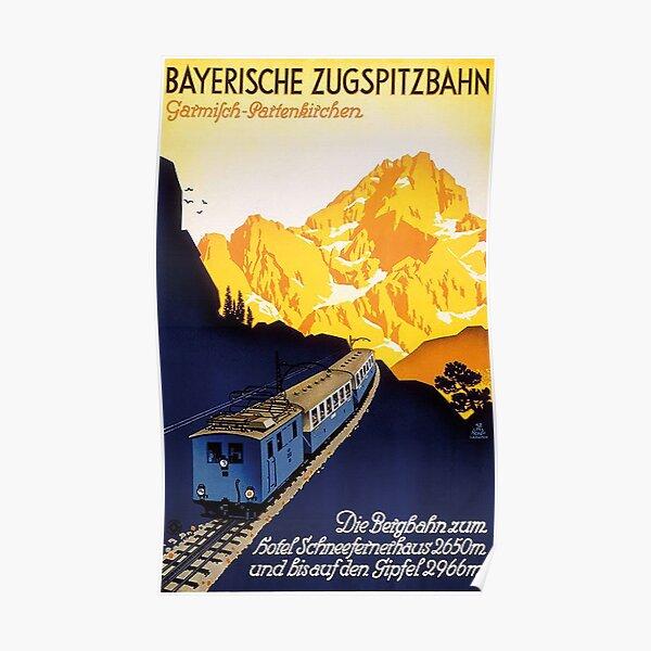 Garmisch Partenkirchen...Bayerische Zugspitzbahn Poster