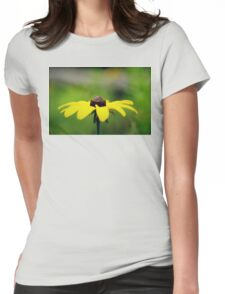 Yellow Womens Fitted T-Shirt