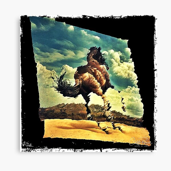 Galloping Horse Impressionist WallsOfFameAust Canvas Print
