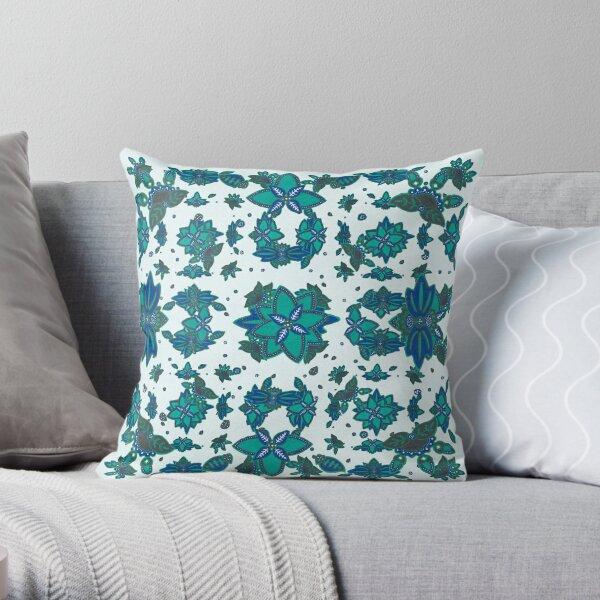 Folk Art revival  Throw Pillow