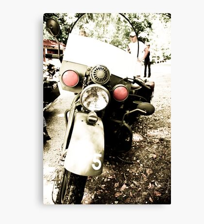 Rare Army Issue Motorcycle Canvas Print