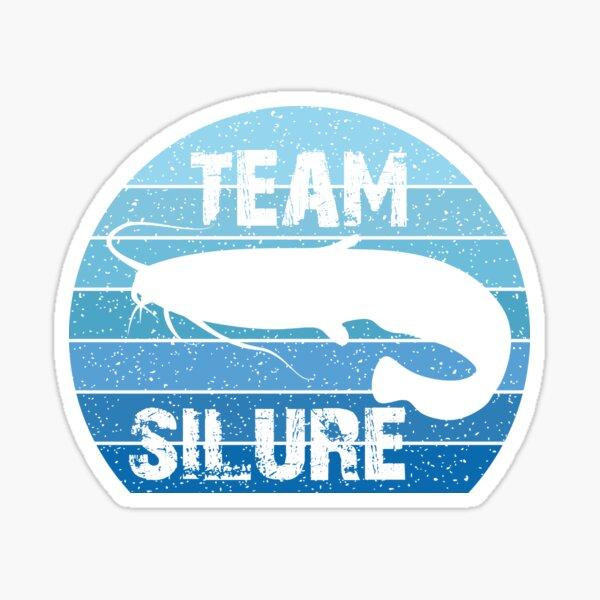Team Silure, Pêche au chat, Rétro, Vintage Sticker