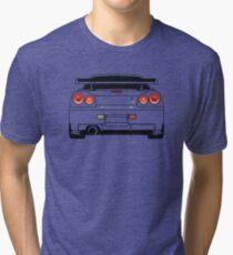 Nissan GTR R34 Schwarz Vintage T-Shirt