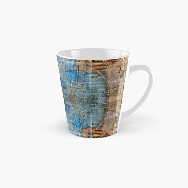 RED BRICKS AND BLUE TARP IN KATHMANDU NEPAL Tall Mug