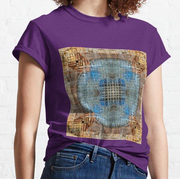 RED BRICKS AND BLUE TARP IN KATHMANDU NEPAL Classic T-Shirt