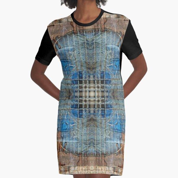 RED BRICKS AND BLUE TARP IN KATHMANDU NEPAL Graphic T-Shirt Dress