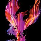 Mystic Fire Phoenix Silhouette by ferinefire