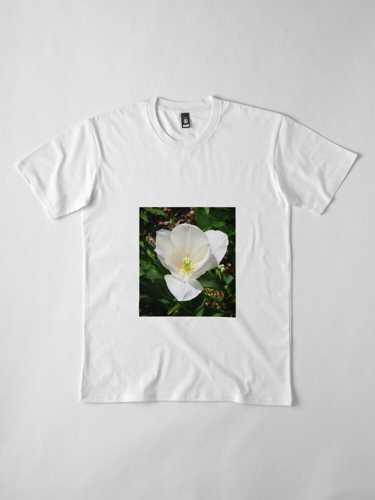 Alternate view of White Tulip Premium T-Shirt